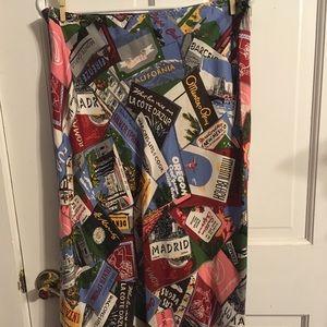 Gap Passport Silk Skirt